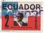 Sellos de America - Ecuador -  Salvador allende