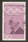 Sellos de Europa - Alemania -  428 - Juegos olímpicos de México, Barón Pierre de Courbertin