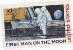 Sellos de America - Estados Unidos -  First man of the moon