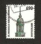 Sellos de Europa - Alemania -  1692 - Iglesia de San Michel, en Hambourg