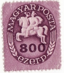 Stamps Hungary -  Jinete sobre caballo