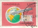 Sellos de America - Colombia -  COLOMBIA 1969 Aereo 50 anos 1.50c