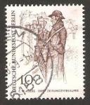 Stamps : Europe : Germany :  berlin en el siglo XIX, vendedor de periódicos