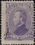 Sellos de America - Honduras -  Honduras 1878 Scott 33 Sello Presidente Francisco Morazán 1r usado