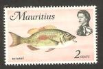 Sellos de Africa - Mauricio -  fauna marina, batarde
