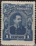 Stamps America - Honduras -  Honduras 1891 Scott 51 Sello Nuevo Presidente Luis Bográn