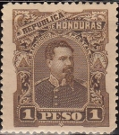 Stamps America - Honduras -  Honduras 1891 Scott 61 Sello Nuevo Presidente Luis Bográn