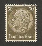 Stamps Germany -  paul von hindenburg, presidente
