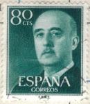 Stamps Spain -  ESPANA 1955 (E1152) General Franco 80c