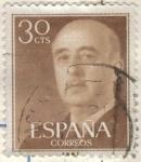 Stamps Spain -  ESPANA 1955 (E1147) General Franco 30c