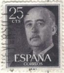 Stamps Spain -  ESPANA 1955 (E1146) General Franco 25c