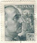 Sellos de Europa - España -  ESPANA 1949 (E1053) Cid y General Franco 50c 2