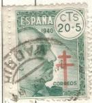 Sellos de Europa - España -  ESPANA 1940 (E937) Pro Tuberculosos 20c+5c