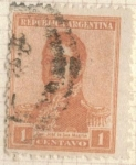 Sellos de America - Argentina -  ARGENTINA 1918 (MT213) San Martin 1c