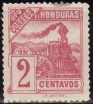 Sellos del Mundo : America : Honduras : Honduras 1898 Scott 104 Sello Nuevo Ferrocarril Tren 2c