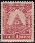 Stamps America - Honduras -  Honduras 1890 Scott 50 Sello Nuevo Escudo de Armas 1r