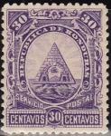 Sellos de America - Honduras -  Honduras 1890 Scott 46 Sello Nuevo Escudo de Armas 30c