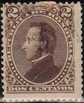 Sellos del Mundo : America : Honduras : Honduras 1878 Scott 31 Sello Presidente Francisco Morazán 2c usado