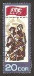 Sellos de Europa - Alemania -  7º congreso del partido socialista unitario alemán, ejercito socialista