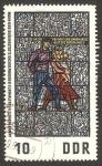 Sellos del Mundo : Europa : Alemania :  pintura en vidriera en el museo de la resistencia de sachsenhausen, la lucha clandestina