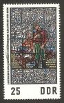 Sellos de Europa - Alemania -  pintura en vidriera en el  museo de la resistencia de sachsenhausen, partisanos