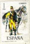 Stamps Spain -  ESPANA 1974 (E2197) Uniformes militares 1p 2