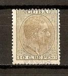 Stamps America - Cuba -  Alfonso XII / Habilitado con Sobrecarga.