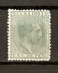 Stamps America - Cuba -  Alfonso XII