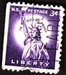 Stamps : America : United_States :  estatua de la libertad