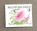 Sellos de Europa - Bélgica -  Flor de campanillas