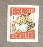 Sellos de Europa - Bélgica -  Madre con bebé