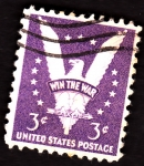 Stamps United States -  win the war