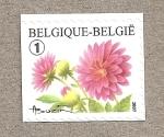 Stamps Belgium -  Flor rosa