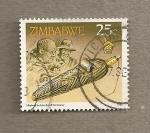 Sellos de Africa - Zimbabwe -  caja artesanal