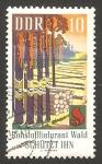 Sellos de Europa - Alemania -  protección contra los incendios forestales, tala de arboles y recogida de resina