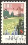Stamps Germany -  protección contra los incendios forestales, campo de coníferas