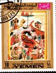 Stamps Yemen -  the nativity-la navidad