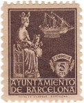 Stamps Europe - Spain -  Ayuntamiento de barcelona. Virgen de la Merced