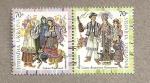 Stamps Ukraine -  Vestimenta típica ucraniana