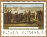 Stamps Europe - Romania -  SAVA HENTIA Baterie de artilerie la Calafat