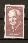 Stamps Germany -  Personalidades / Willi Bredel / DDR