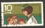 Stamps Germany -  25 anivº de la policía nacional, mujer agente