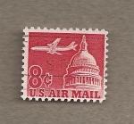 Sellos de America - Estados Unidos -  Avión sobre el Capitolio