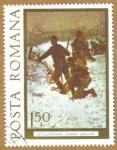 Stamps Romania -  ST LUCHIAN -Soldati atancind