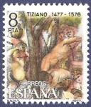Stamps Spain -  Edifil 2466 Tiziano 8 NUEVO