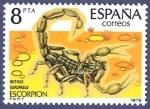 Stamps Spain -  Edifil 2533 Escorpión 8 NUEVO