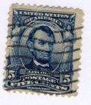 Sellos de America - Estados Unidos -  Presidente Lincoln Ed 1902