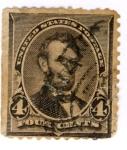 Sellos del Mundo : America : Estados_Unidos : Lincoln Edicion 1890