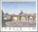 Stamps Italy -  PONTE SAN ANGELO EN ROMA