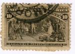 Sellos del Mundo : America : Estados_Unidos : Columbus preseting natives